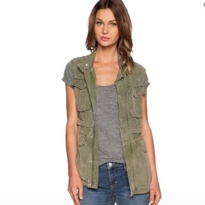 Sanctuary Courier Vest Army Green Size Medium